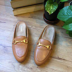 Vionic Adeline Slip On Leather Brown Loafer